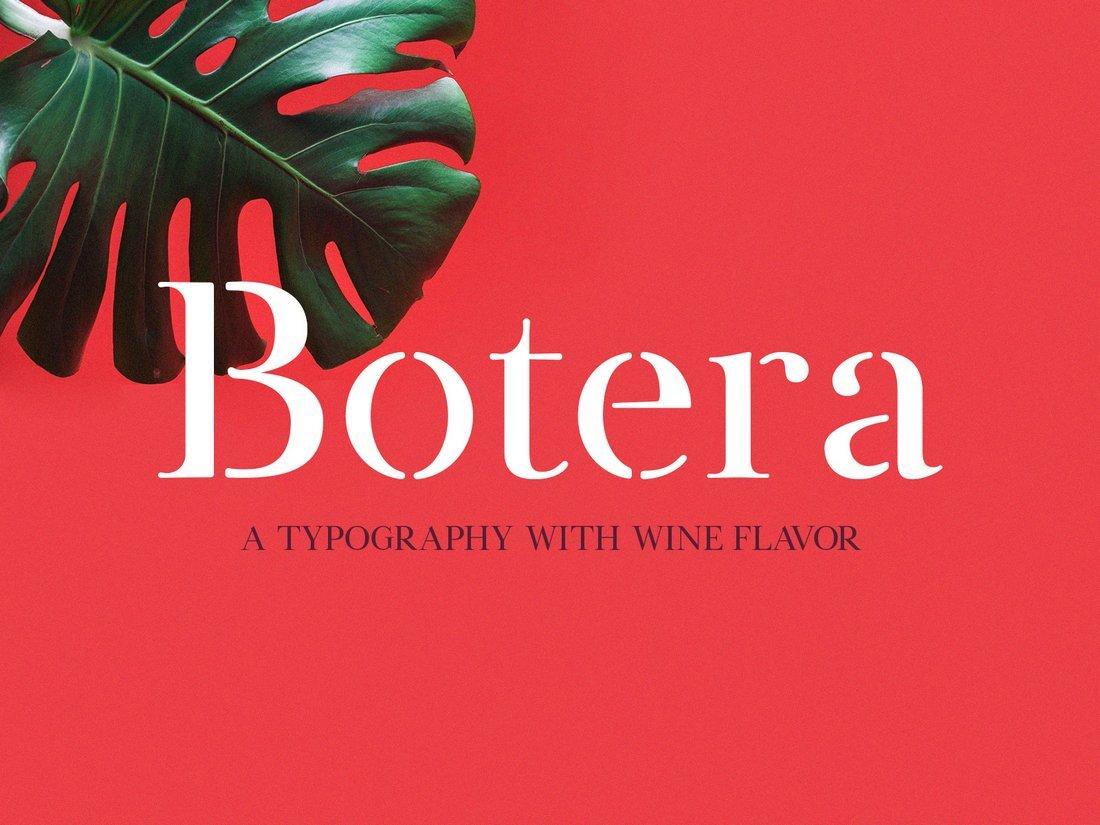 Botera - Free Serif Stencil Font