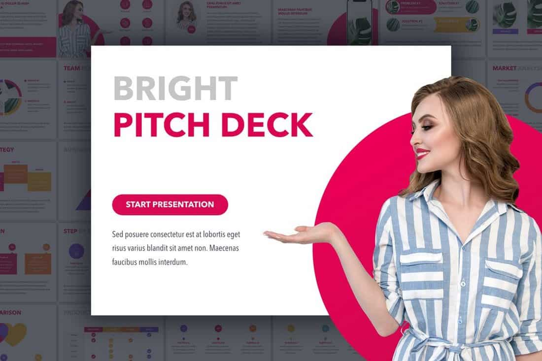 Bright - Startup Pitch Deck Template For PowerPoint