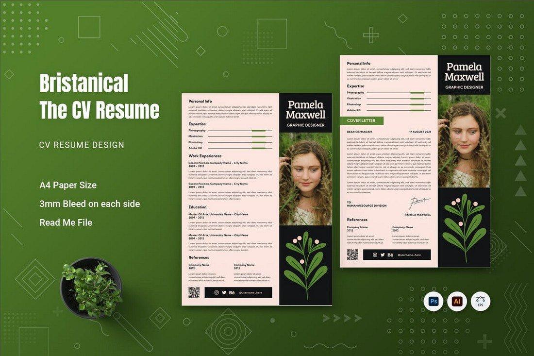 Bristanical - Elegant CV Resume Template