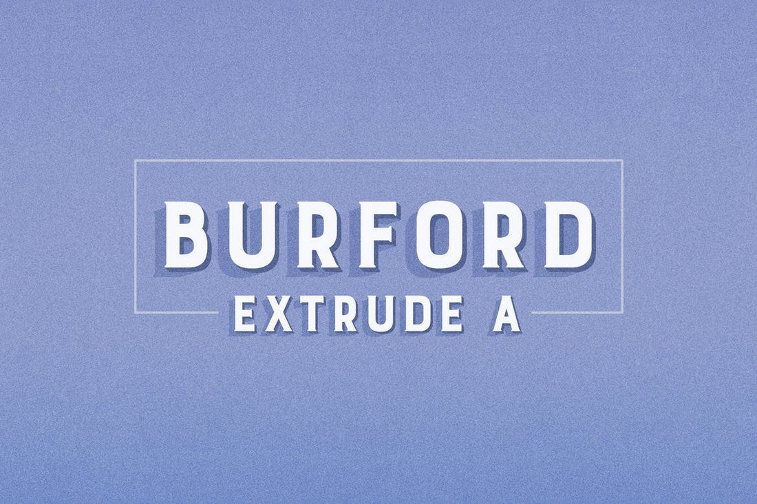 Burford Extrude A Bold Font