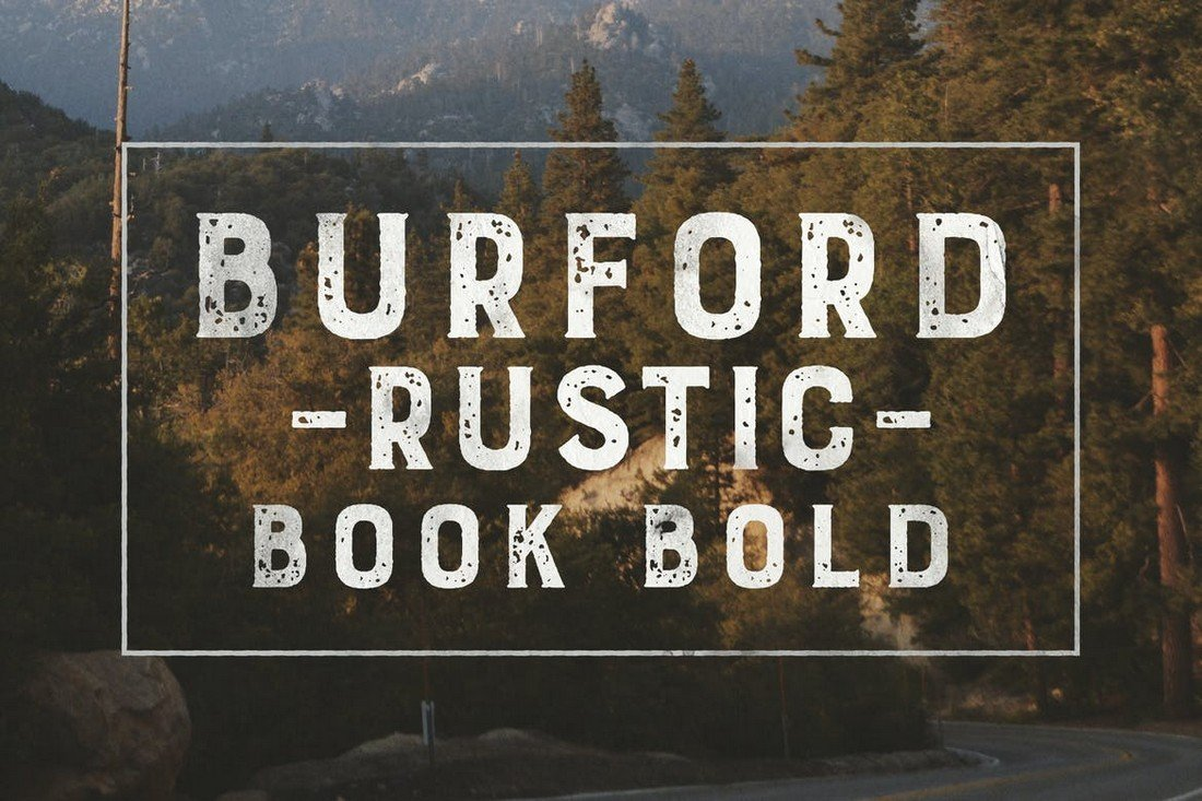 Burford Rustic Book Bold Font