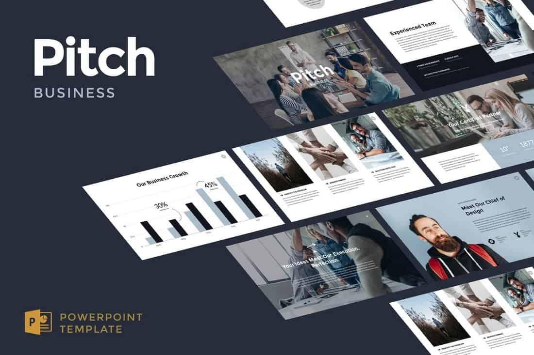 Business Pitch - Startup Pitch Deck Template For PowerPoint