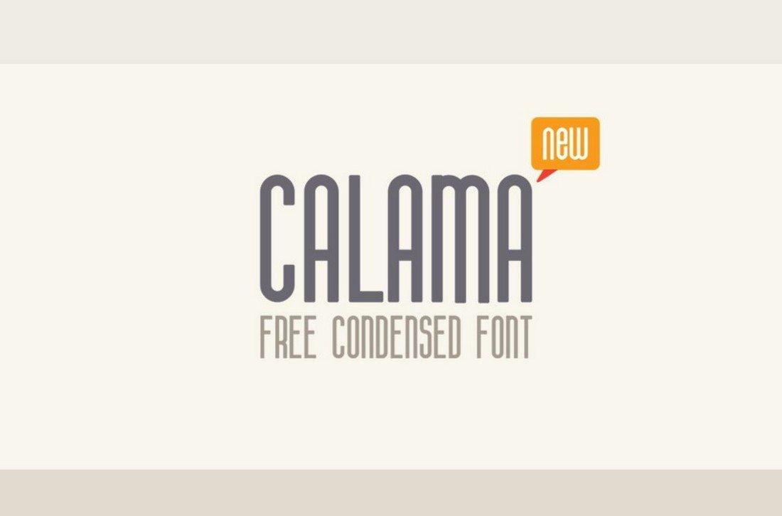 Calama - Free Clean Condensed Font
