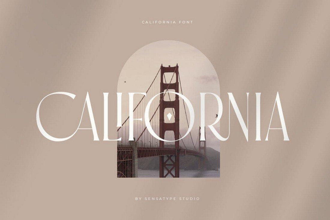 California - Stylish Fashion Condensed Font