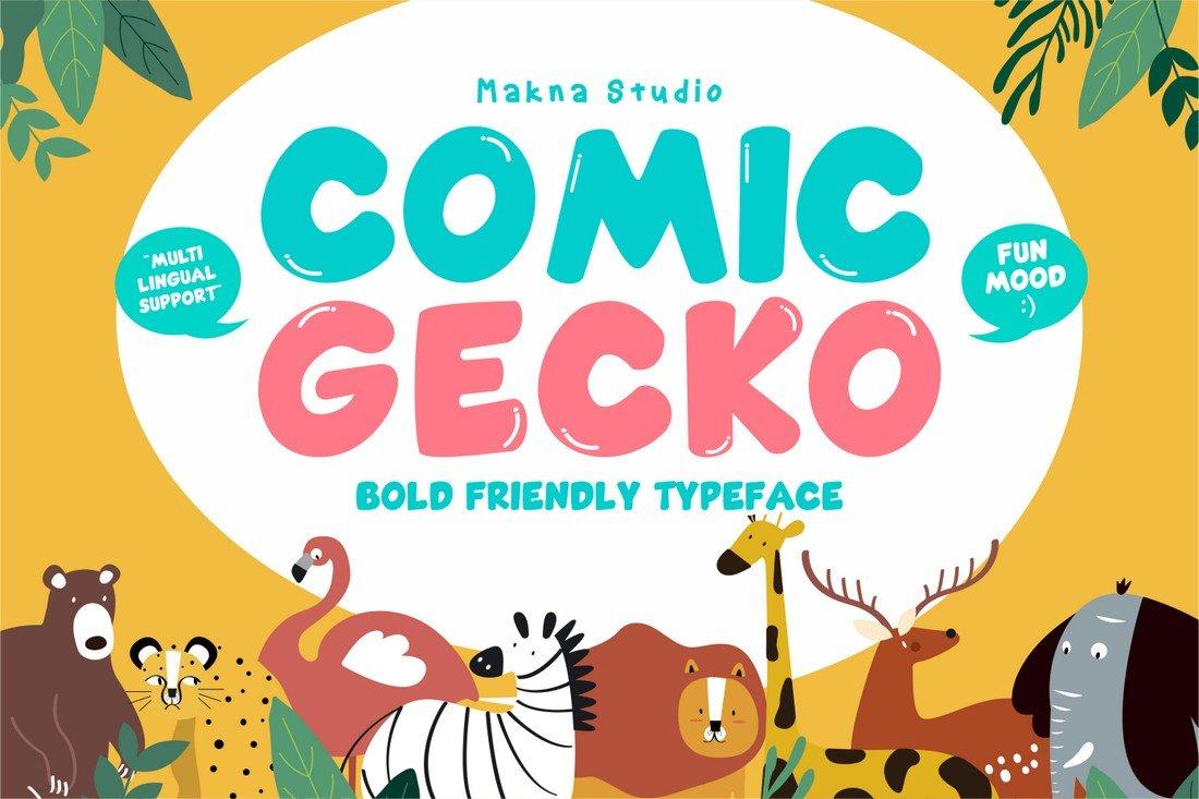 Comic Gecko - Free Cartoon Font