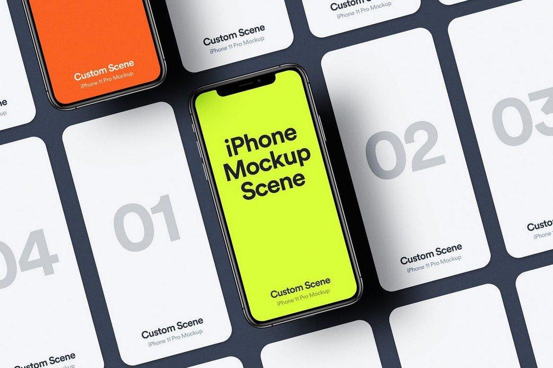 Creative iPhone 11 Pro Mockup