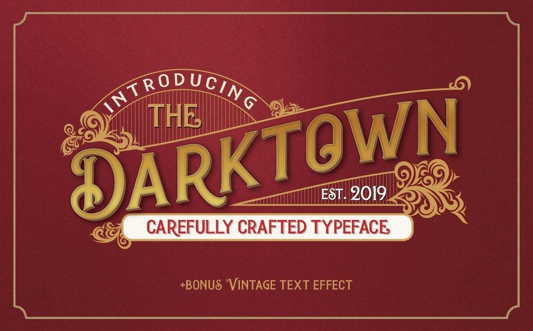 Darktown free vintage font