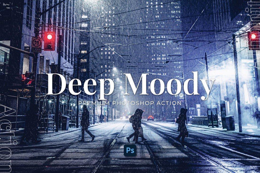 Deep Moody Effect Photoshop Action
