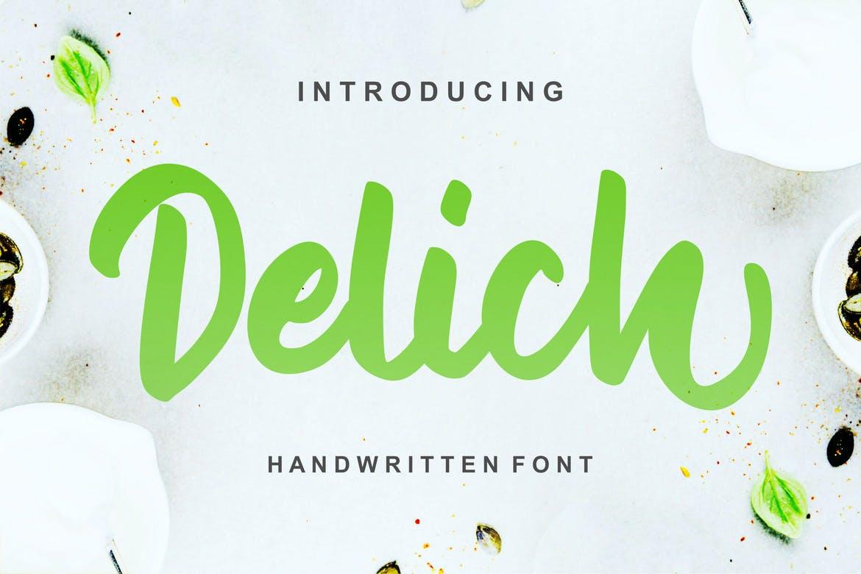 Delich- Handwritten Script Font