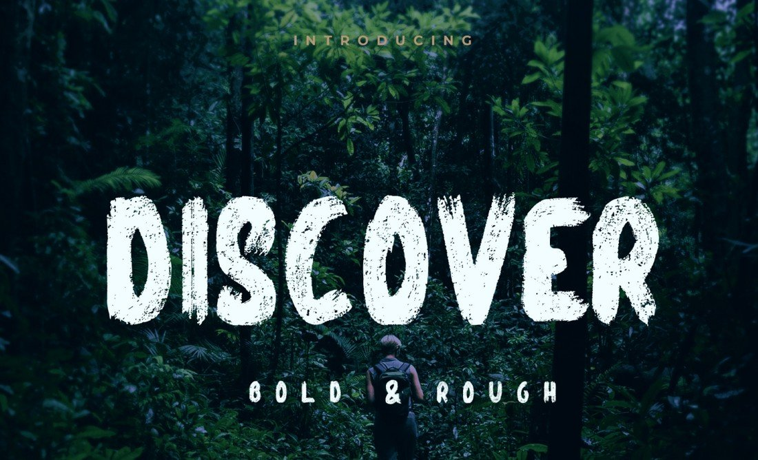 Discover - Free Bold Brush Font