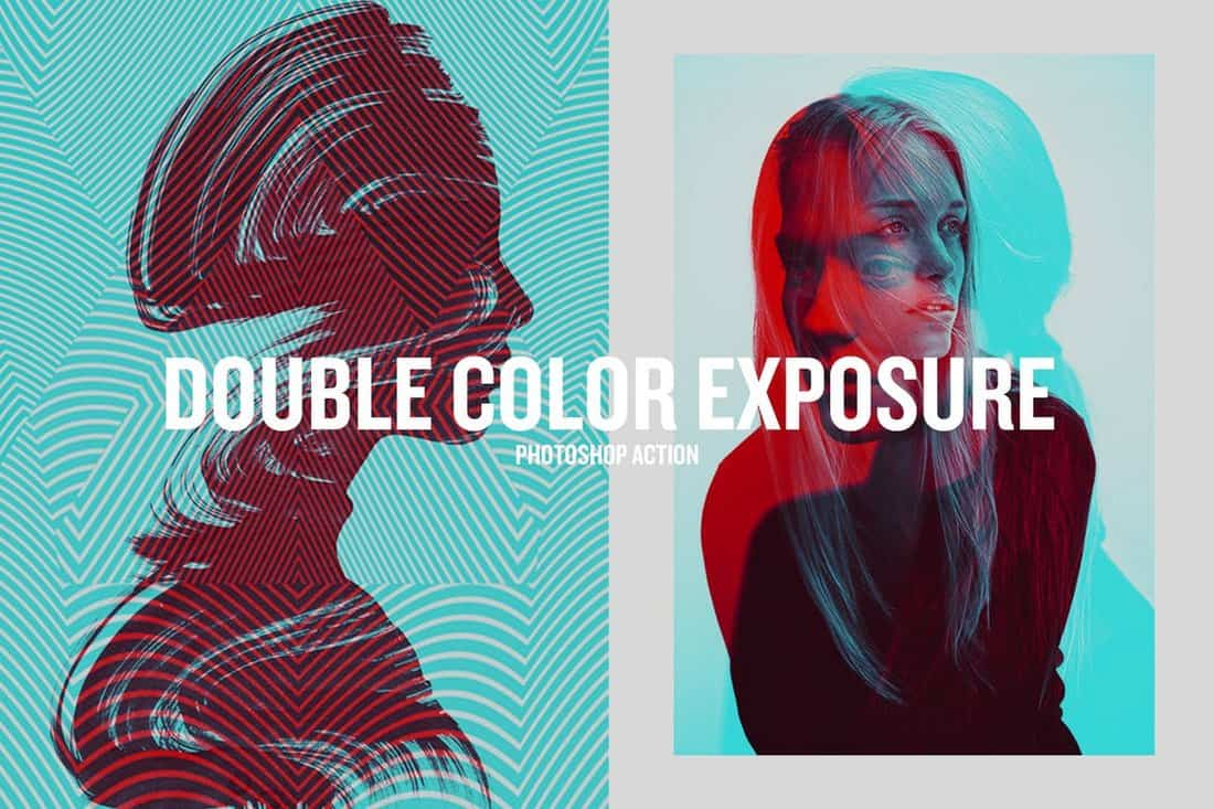 Double Color Exposure PS Action