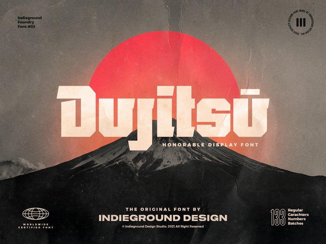 Dujitsu - Free Bold Font