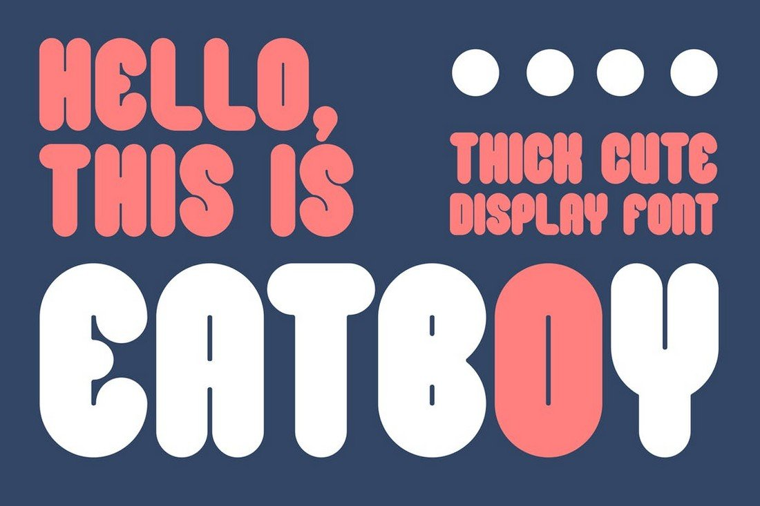 Eatboy - Cute Fat Font