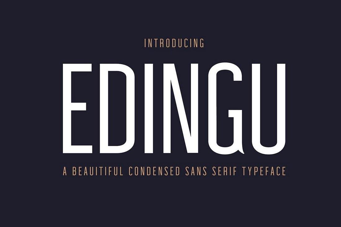 Edingu - Condesend Sans Serif Font Family