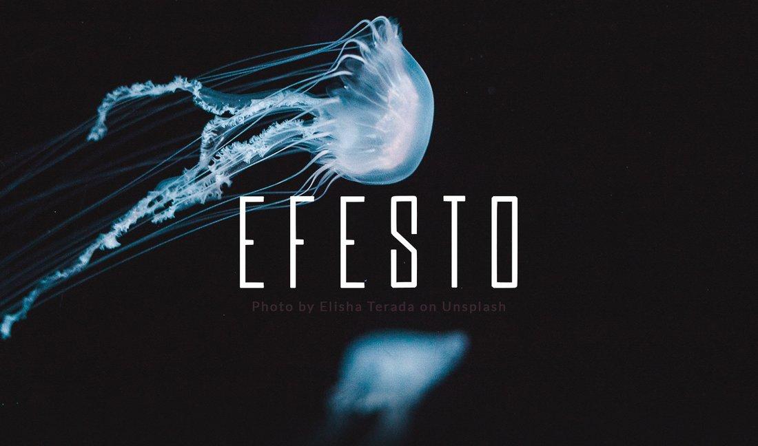 Efesto - Free Modern Narrow Font