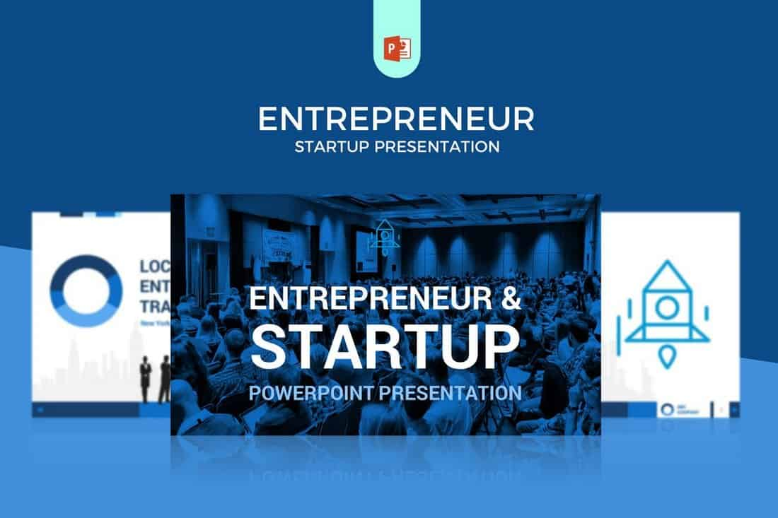 Entrepreneur - Startup Pitch Deck Template For PowerPoint