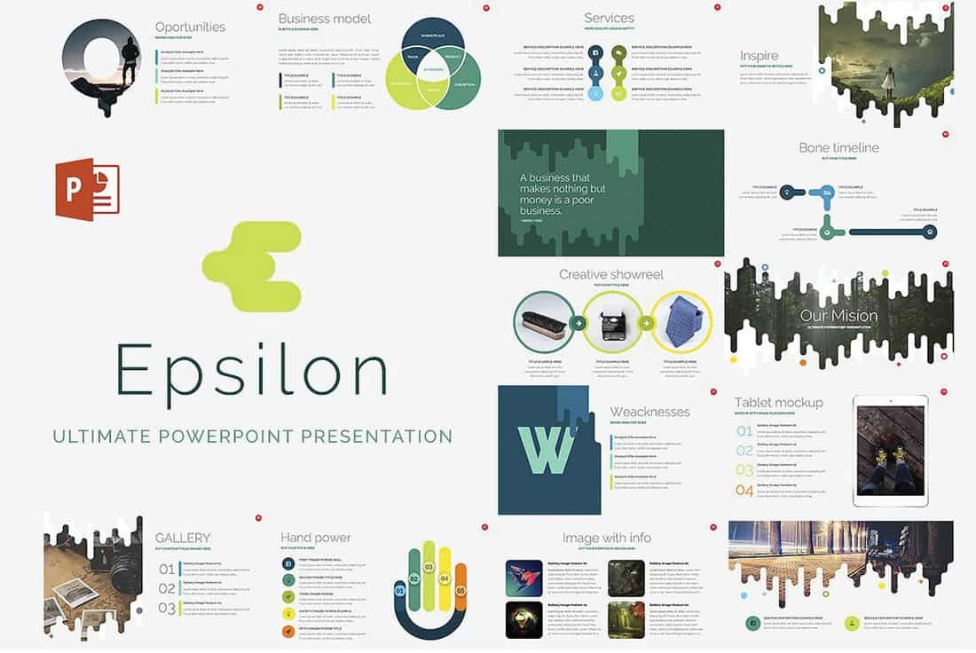 Epsilon - Free Startup PowerPoint Template