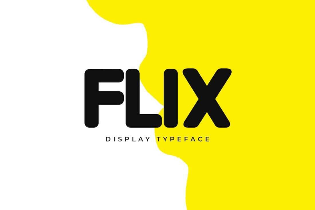 FLIX - Unique Display & Logo Font