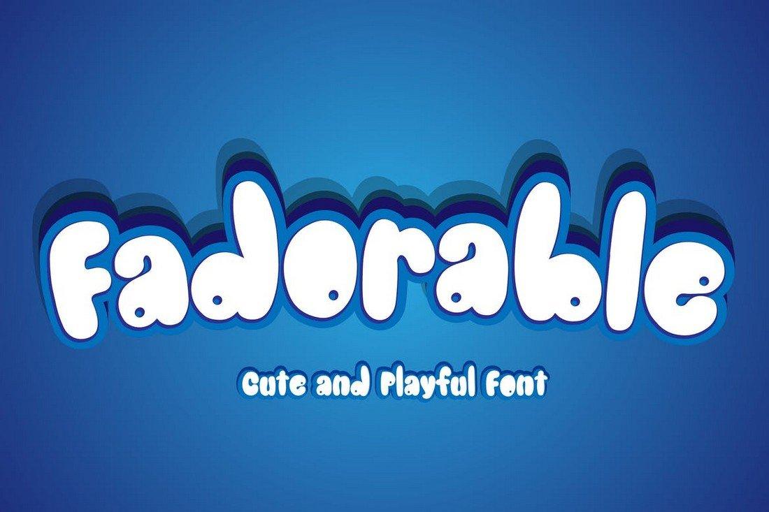 Fadorable - Playful Cartoon Font