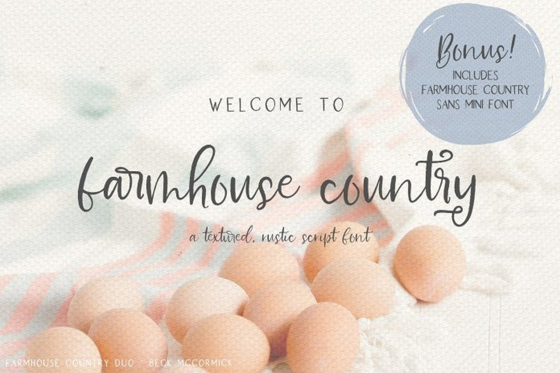 Farmhouse Country - Free Rustic Script Font
