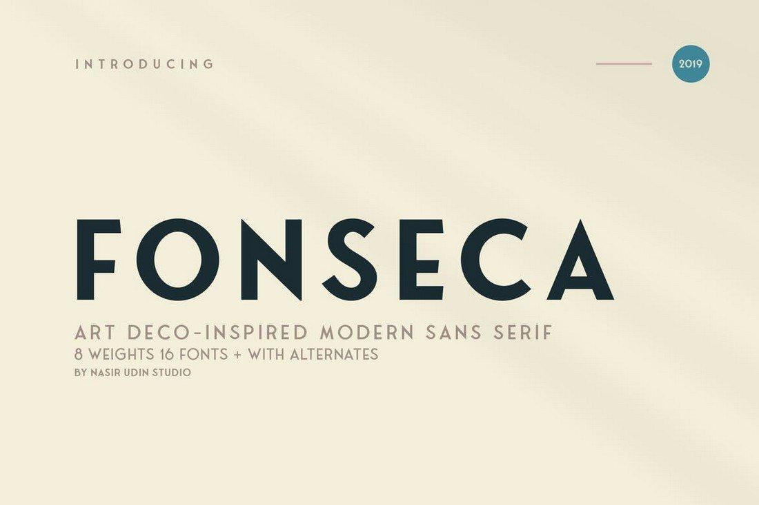 Fonseca - Art Deco Font Family