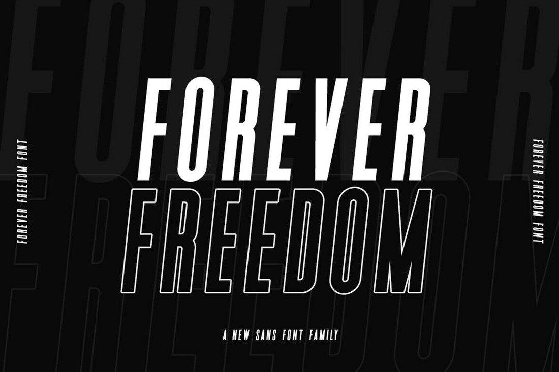 Forever Freedom - Narrow Font Family