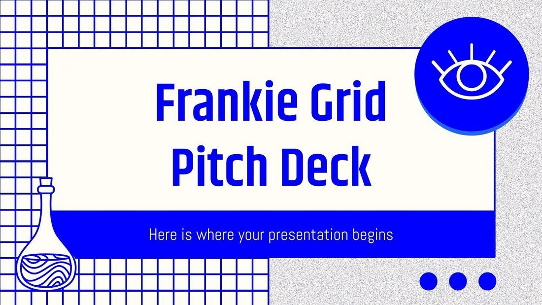 Frankie Grid Free Pitch Deck PowerPoint Template