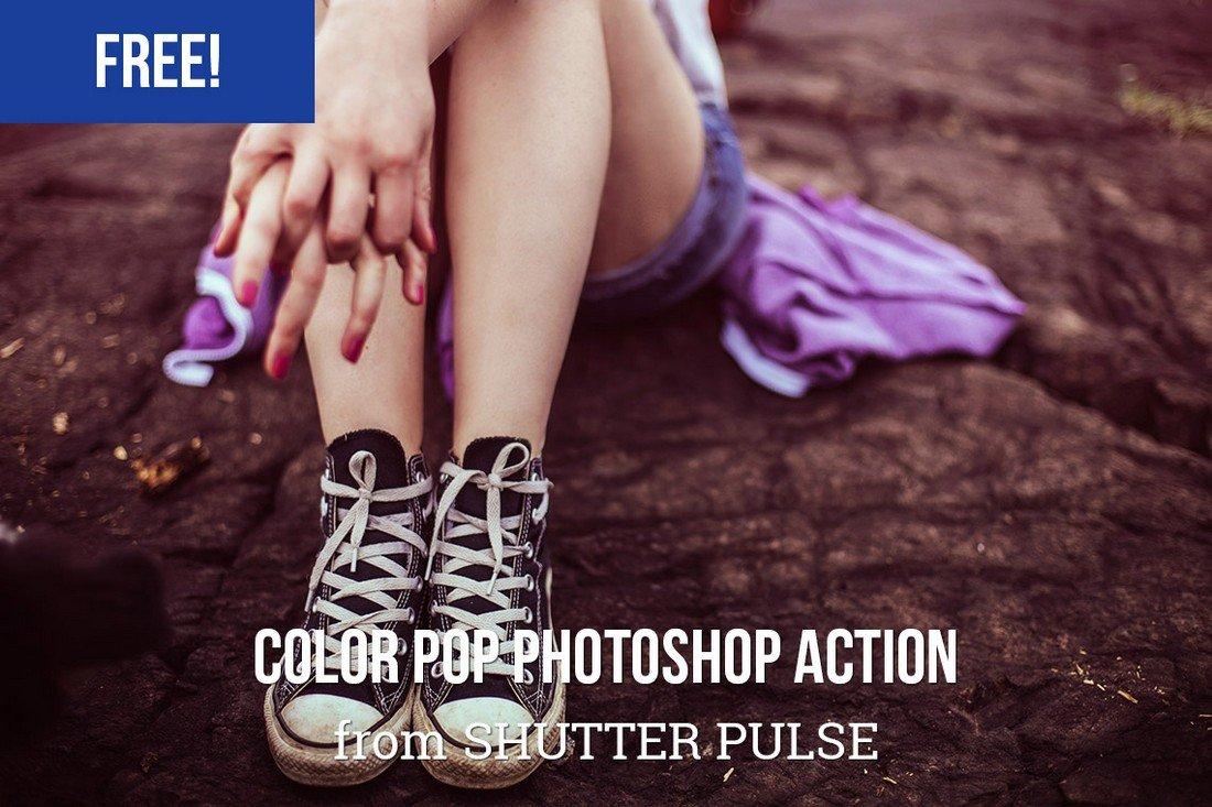Free Color Pop Photoshop Action