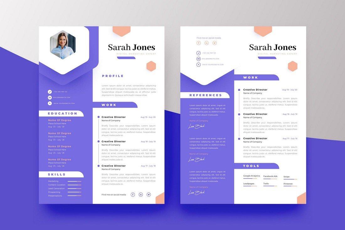 Free Creative Resume CV Template