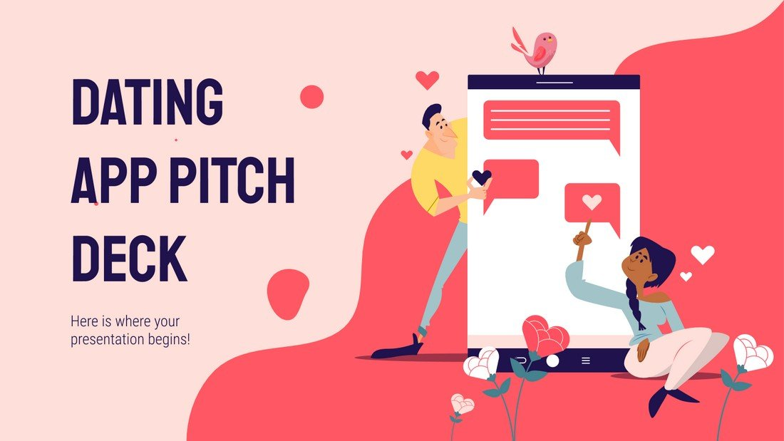 Free Dating App Pitch Deck PowerPoint Template