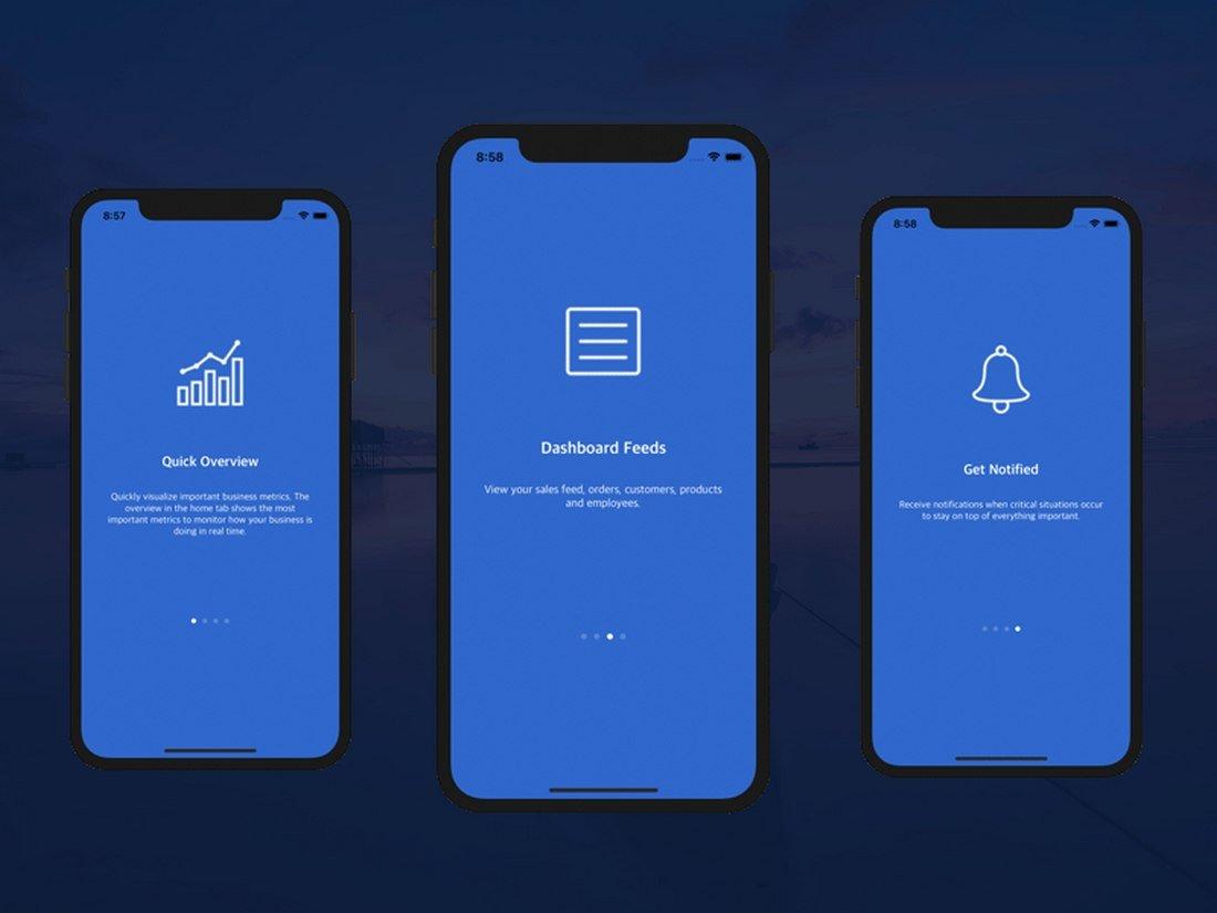Free Onboarding Walkthrough iOS App Template
