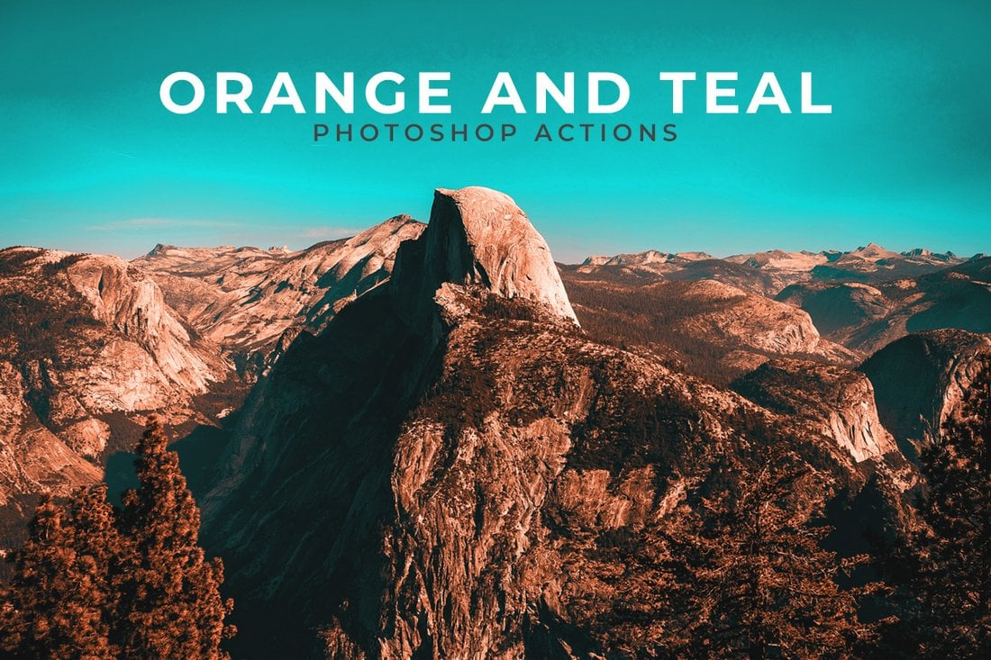 Free Orange and Teal Photoshop Actions