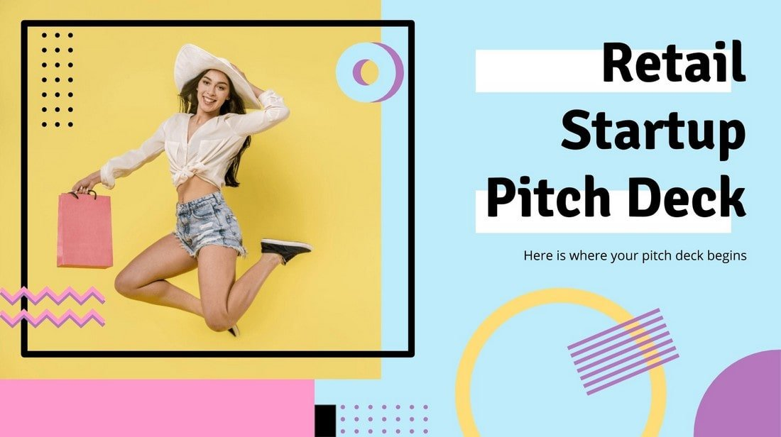 Free Retail Startup Pitch Deck Presentation Template