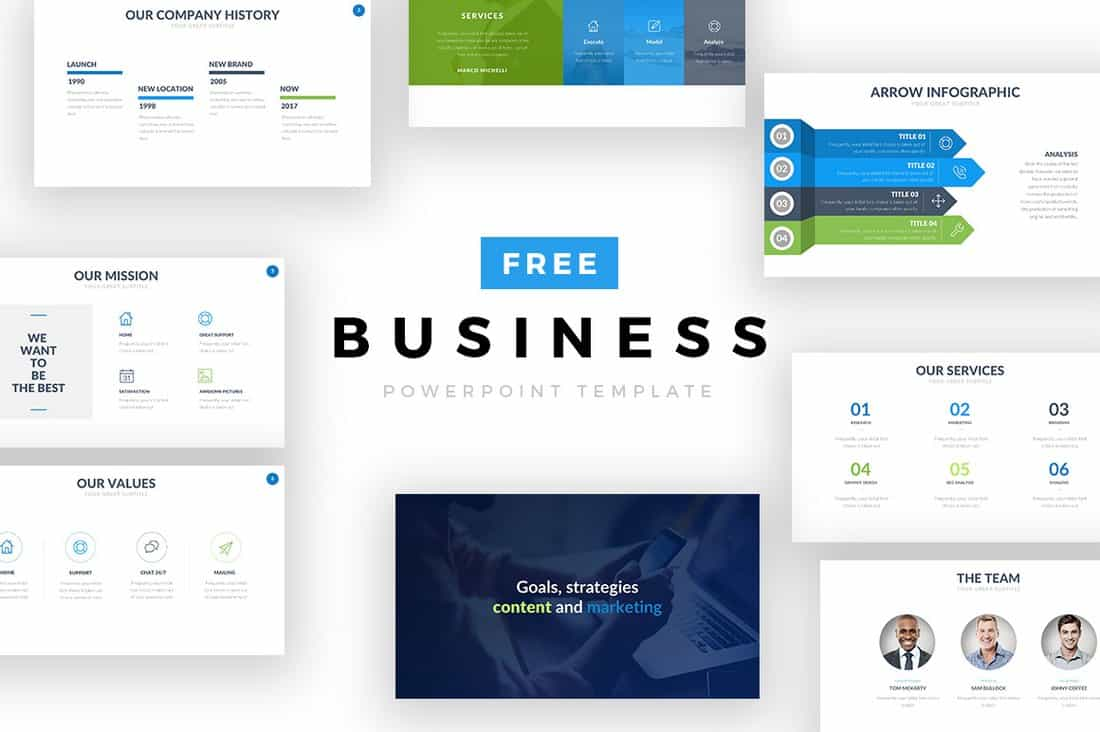 Free Startup & Business PowerPoint Template