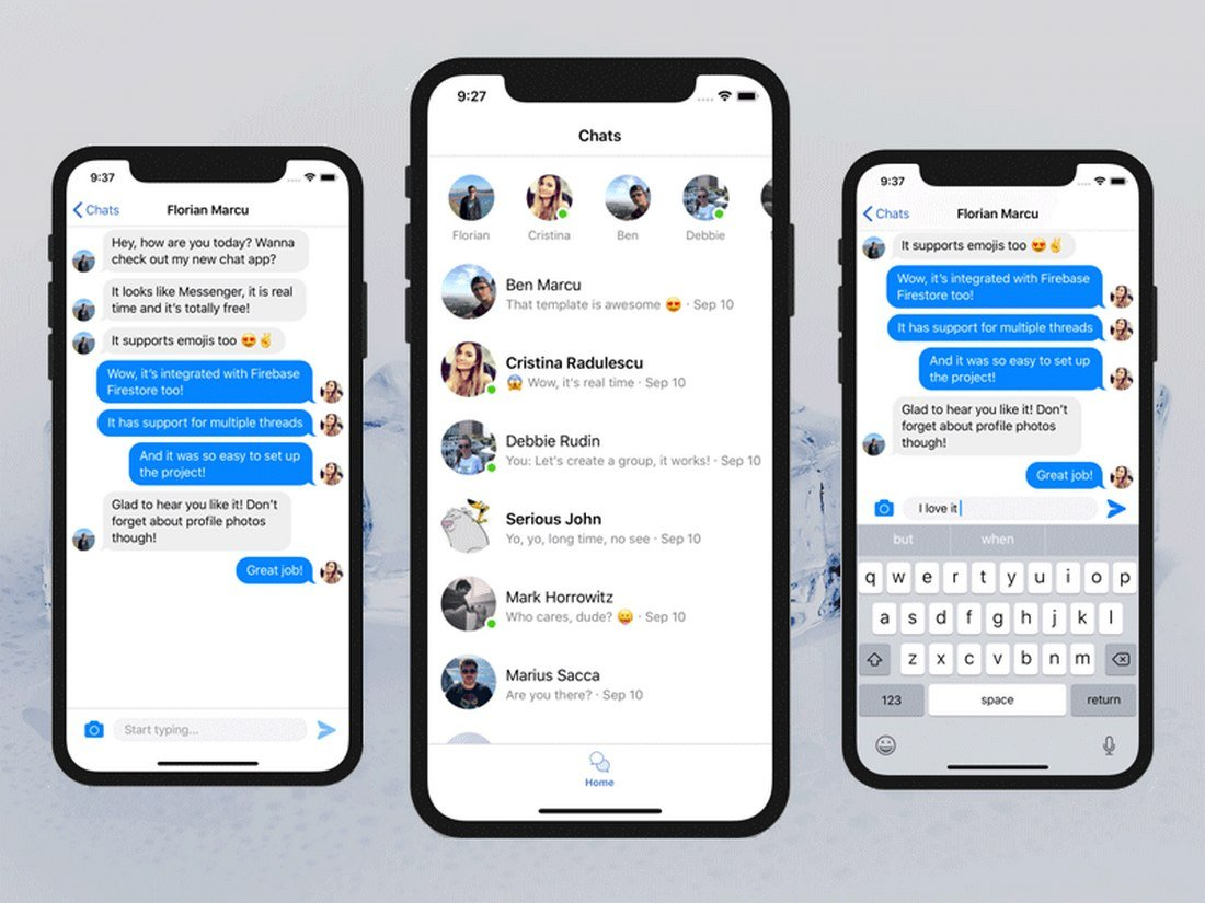 Free Swift iOS Chat App Template