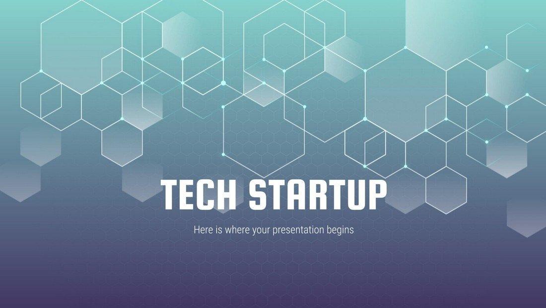 Free Tech Startup Presentation Template