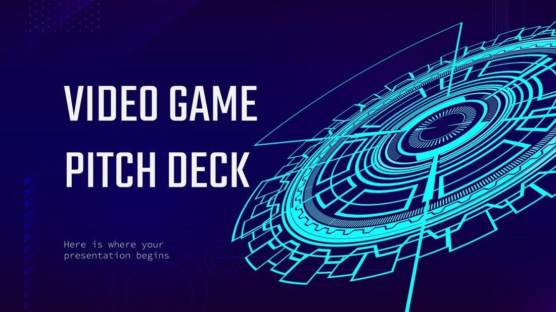 Free Video Game Pitch Deck Presentation