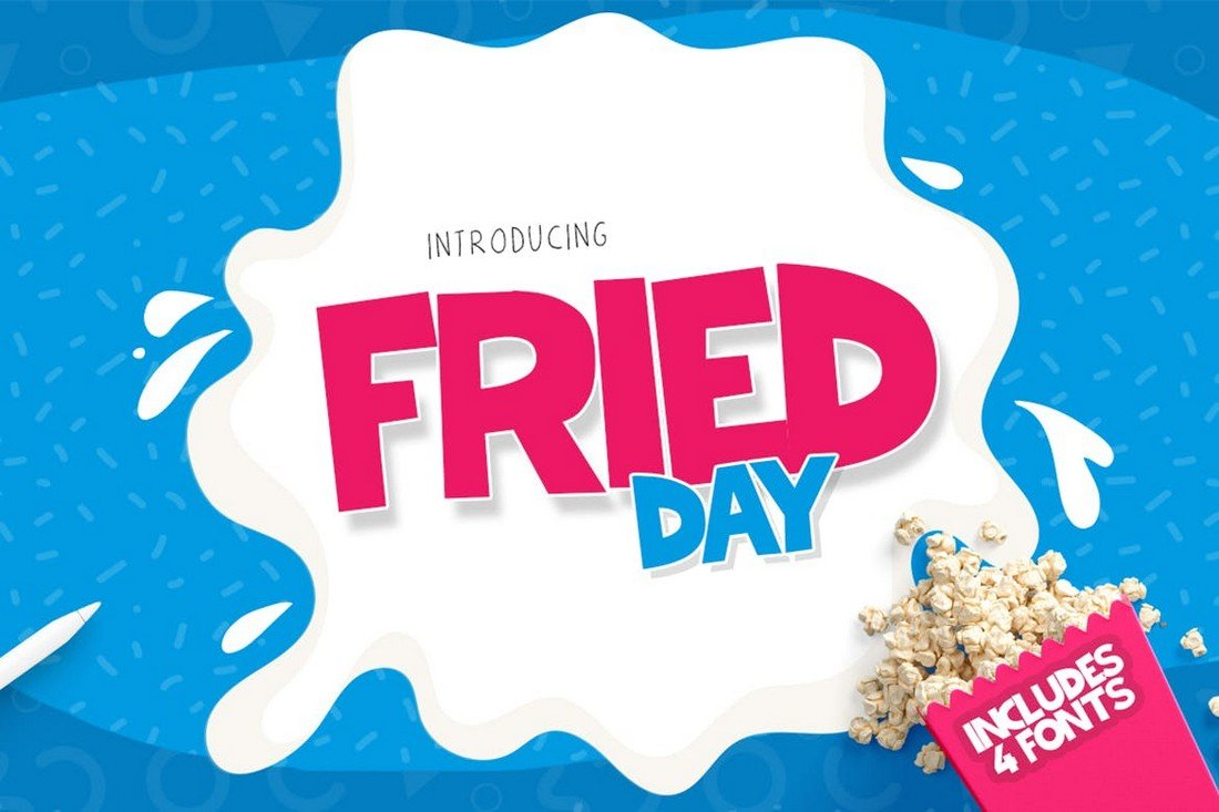 Fried Day - Thick Title Font