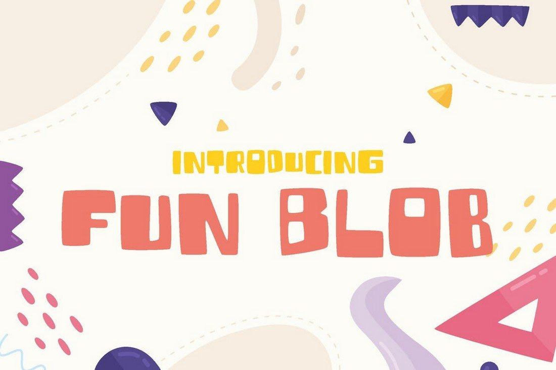 Fun Blob - Funny Kids Cartoon Font
