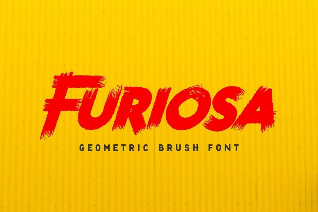 Furiosa - Geometric Brush Font