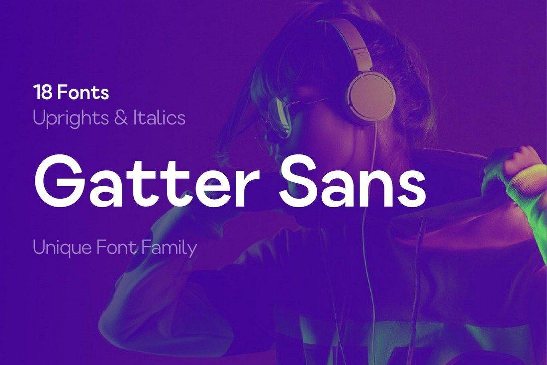 Gatter Sans - Free Modern Font Family