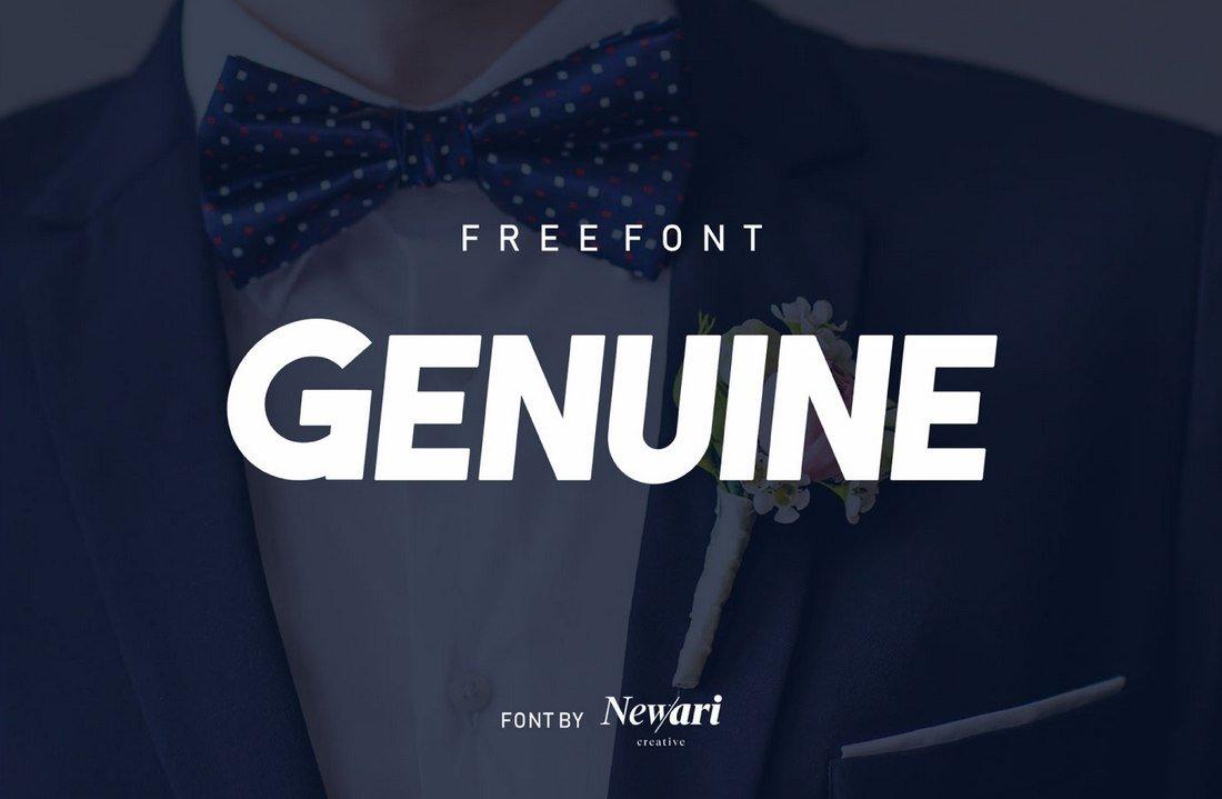 Genuine - Free Bold Title Font