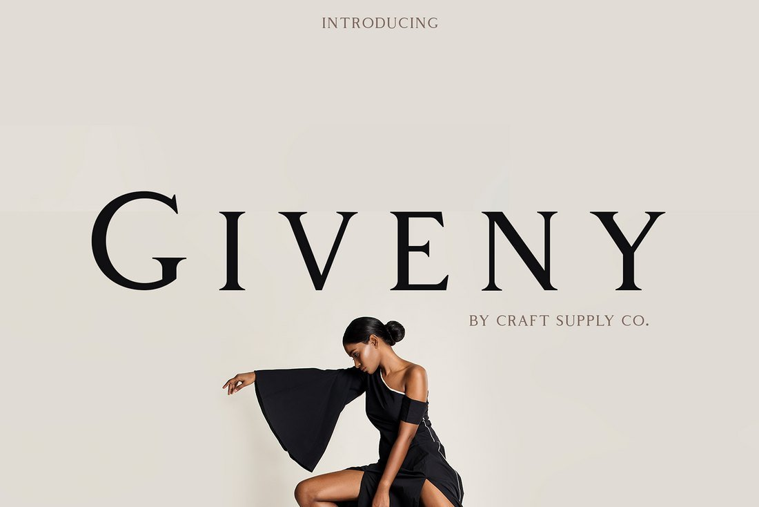 Giveny - Free Serif Font