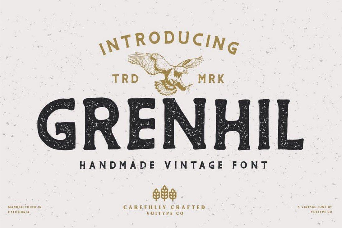 Grenhil - Vintage Rustic Font