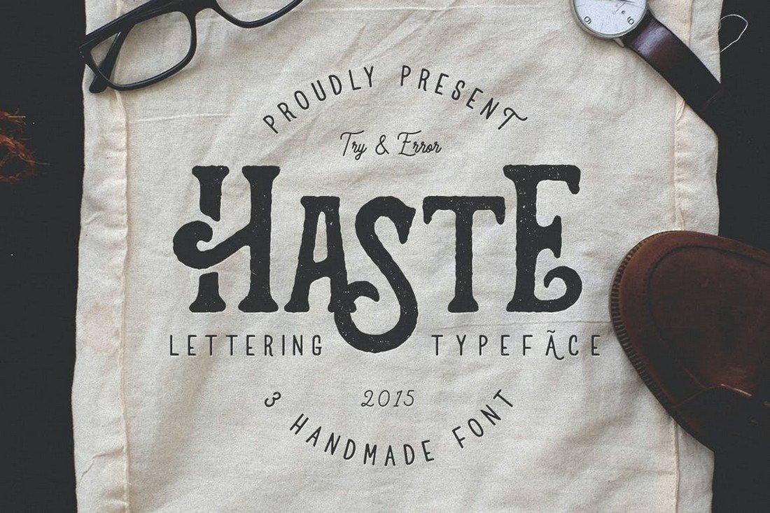 Haste - Handmade Rustic Font