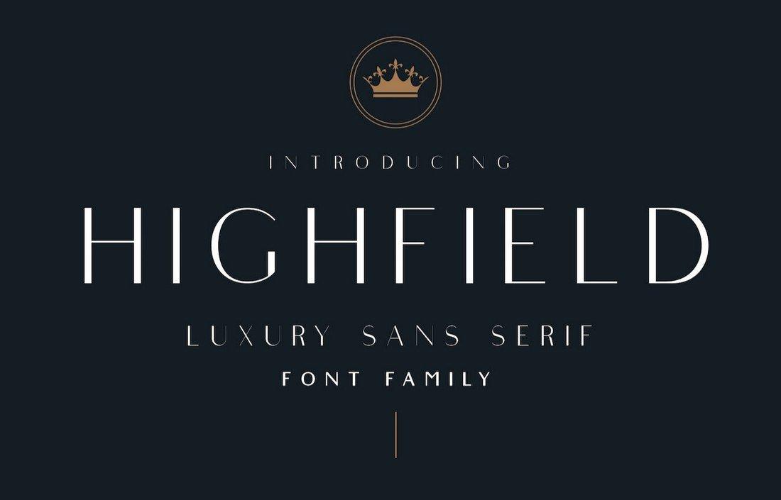 Highfield - Free Luxury Sans-Serif Font
