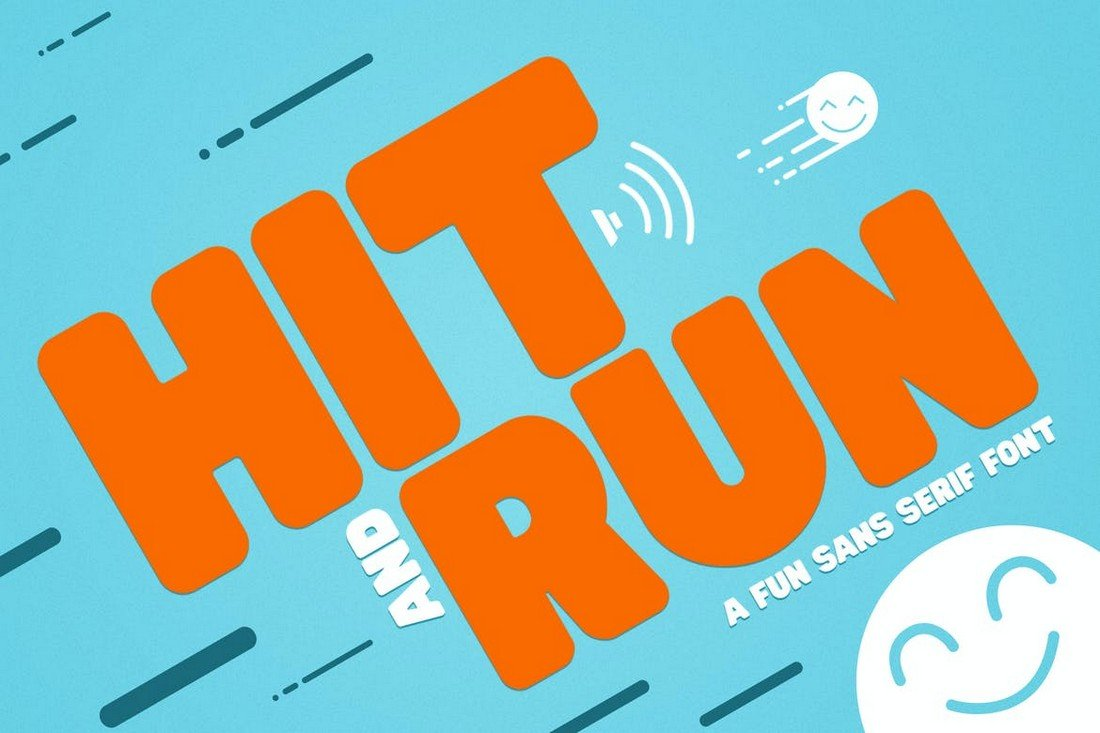 Hit and Run - Fun Thick Font