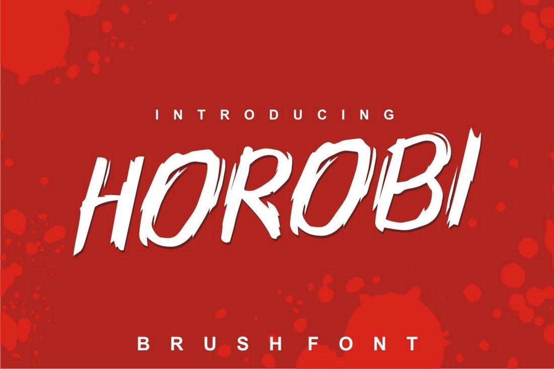 Horobi free Brush font