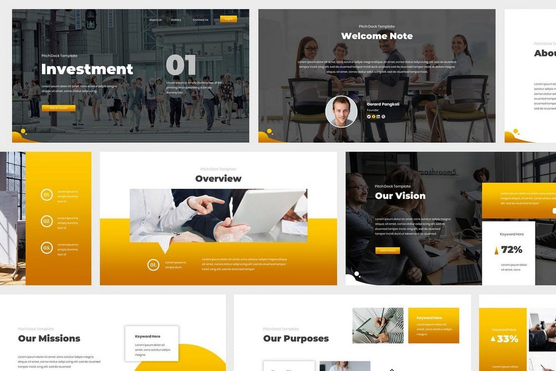 Investment - Pitch Deck Powerpoint Template