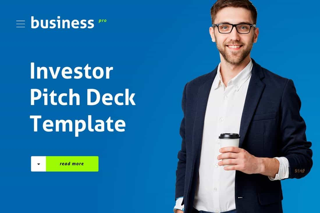 Investor - Startup Pitch Deck Template For PowerPoint